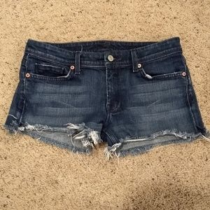 7 for all mankind denim shorts size 29 (?)